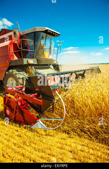 combine harvester close up - Stock-Bilder