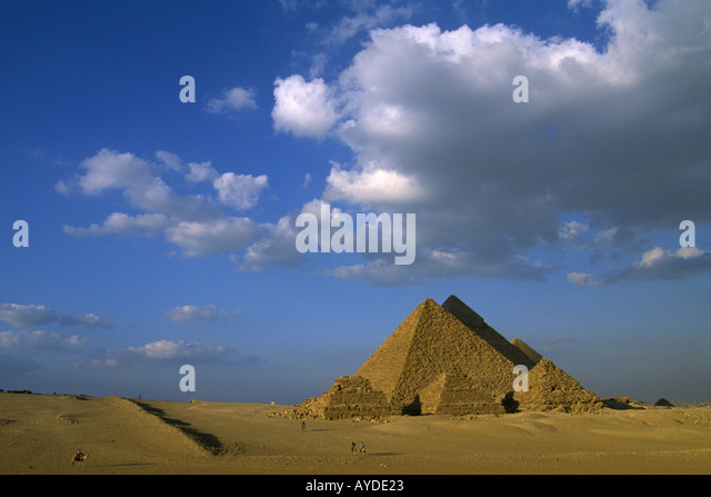 Egypt Giza Pyramids antiquity historic landmark monument - Stock-Bilder
