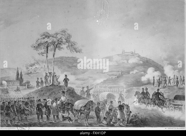 Schlacht bei Custozza 1848 - Stock Image