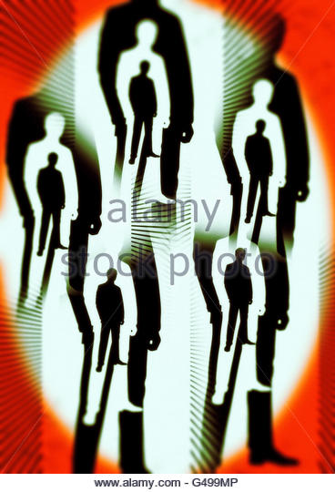 Men in Black area 51 conspiracy roswell illustration - Stock Image
