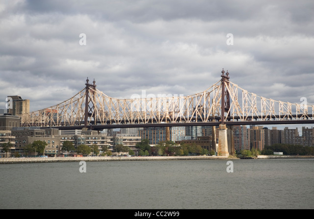USA, New York State, New York City, Queensboro Bridge - Stock Image