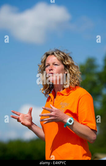 BBC wildlife and science TV presenter Kate Humble. - Stock Image
