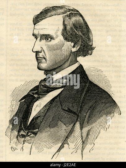 Antique 1854 engraving, 'Mr. Horner, the Greatest Farmer in California.' John Meirs Horner (1821-1907) was - Stock Image