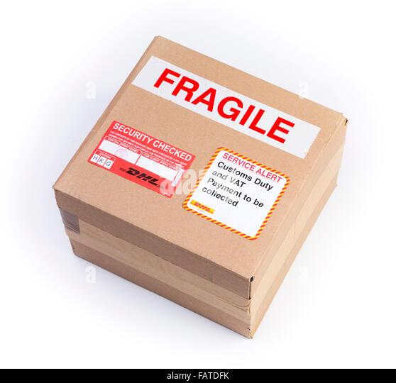fragile parcel - Stock Image