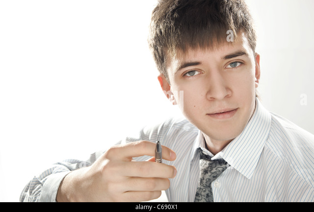 young happy businessman - Stock Image