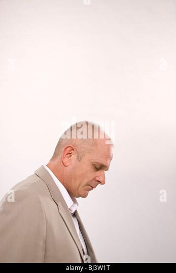 Man, downcast - Stock Image