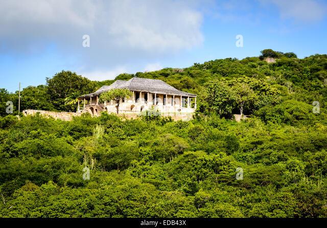Clarence House overlooking Nelson's Dockyard, English Harbor, Antigua - Stock Image