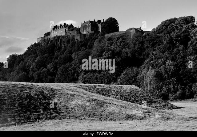 The King's Knot and Stirling Castle Scotland - Stock Image