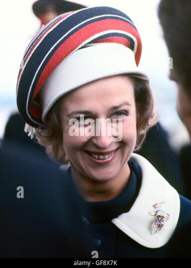 AJAXNETPHOTO. 27TH APRIL, 1970. GOSPORT, ENGLAND. - PRINCESS NAMES YACHT - HRH PRINCESS ALEXANDRA, THE HONOURABLE - Stock Image