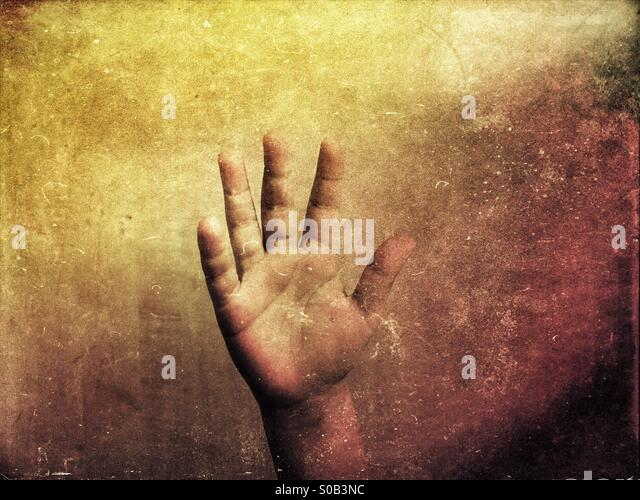 Little boy's hand - Stock Image