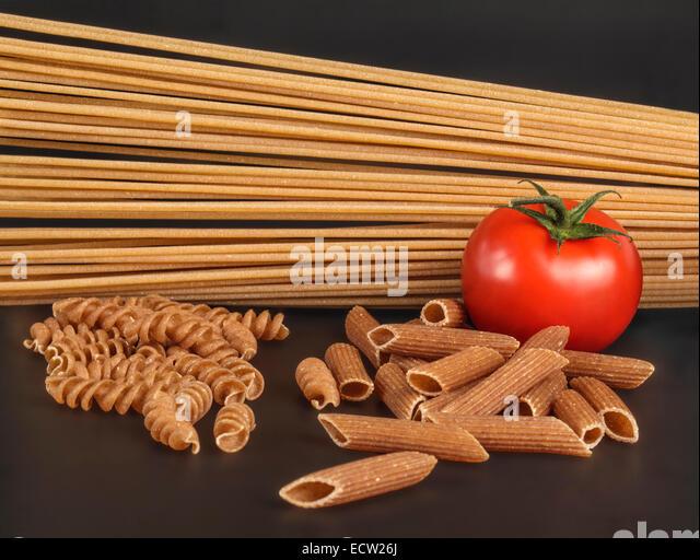 Close up of mixed Pasta - Stock Image