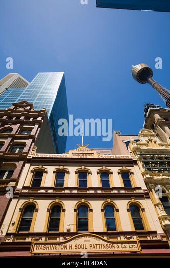 Historic architecture on the Pitt Street Mall.  Sydney, New South Wales, AUSTRALIA - Stock Image