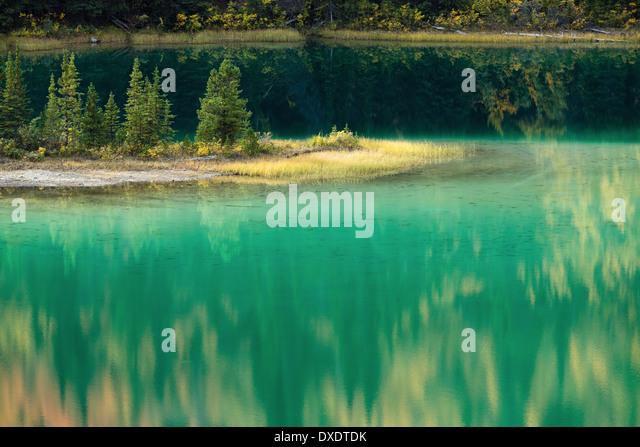 Emerald Lake, nr Carcross, Yukon Territories, Canada - Stock Image
