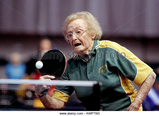 World Veteran Table Tennis Championships - Stock Image