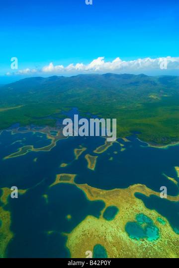 View of Pohnpei Island Caroline Islands Senyavin Islands Pacific Pohnpei Micronesia - Stock-Bilder
