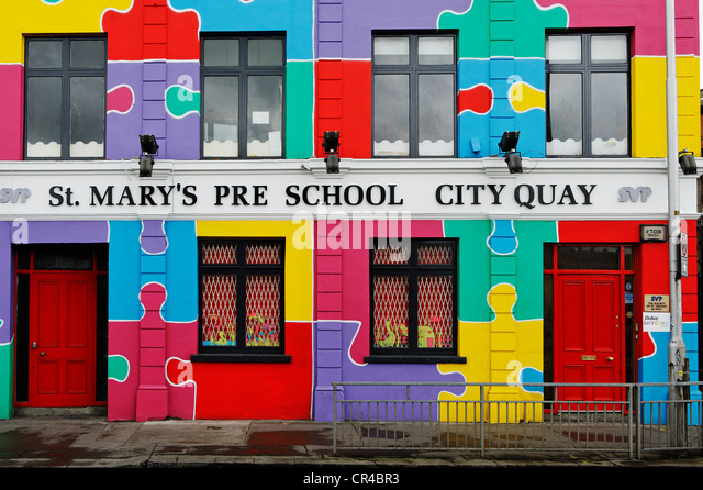 St. Mary's Pre-School, kindergarten, City Quay, Republic of Ireland, Europe - Stock Image