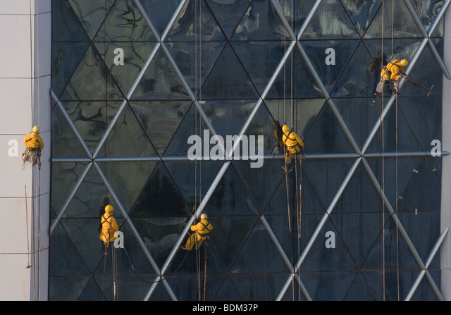 Bahrain World Trade Center Manama Wind Turbines - Stock Image