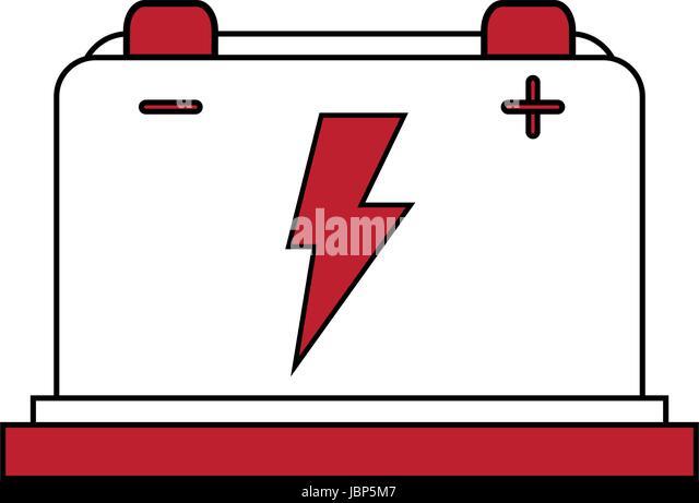 Cartoon Battery Tester : Flat battery stock photos images alamy