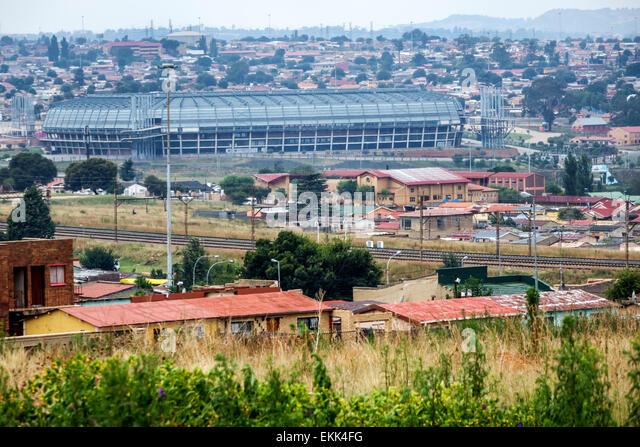 South Africa African Johannesburg Soweto Lafarge Orlando Stadium - Stock Image