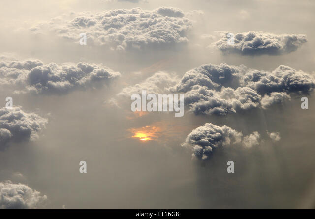 Top view from plane window ; India - Stock Image