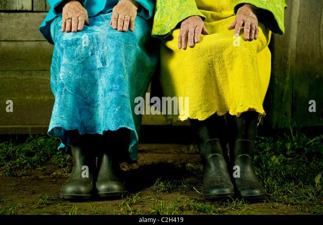Senior mature women hands - Stock Image