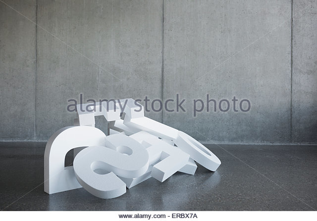 Fallen letters in a heap - Stock Image
