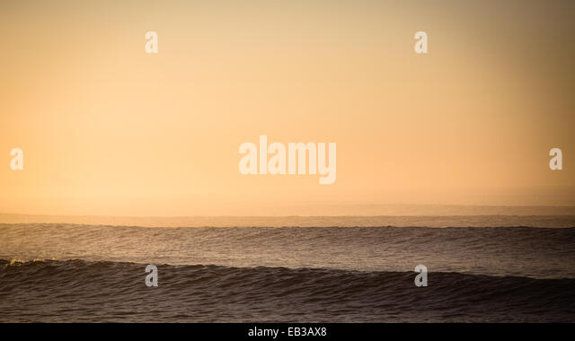 USA, California, Los Angeles County, Malibu, Seascape at sunset - Stock-Bilder