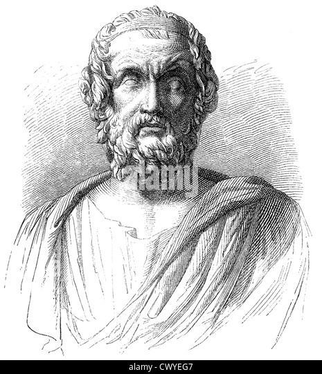 Homer, poet of antiquity, author of the Iliad and the Odyssey, - Stock Image