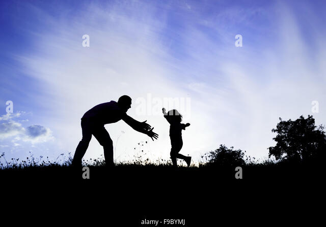 father and son silhouette stock photos  u0026 father and son silhouette stock images