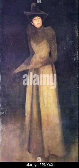 James Abbott McNeill Whistler  Harmony in Brown The Felt Hat - Stock Image