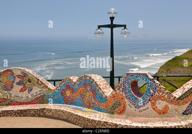 Parque del Amor, Miraflores, Lima, Peru - Stock Image