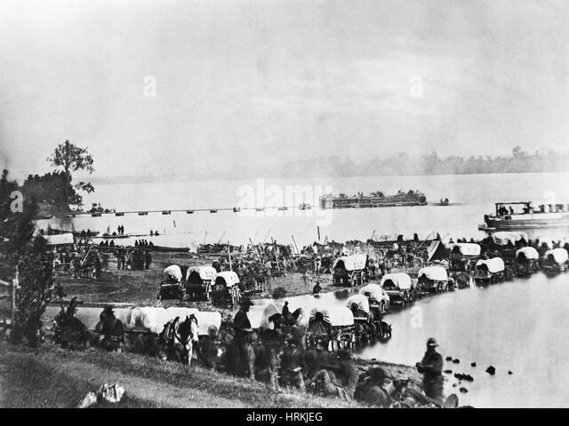 Civil War Army Wagons - Stock Image