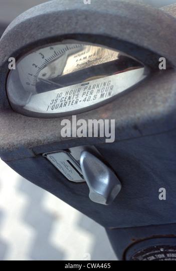 Retro Parking Meter - Stock Image