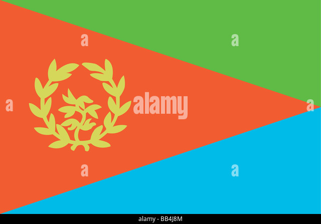 Historical flag of Eritrea, a country on the horn of Africa, from 1993 to 1995. - Stock Image