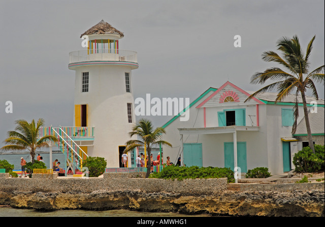 Bahamas Lighthouse Pearl Island off New Providence Nassau Paradise Island - Stock Image