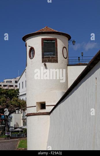 Palácio de São Lourenço Military Museum, Avenida Zarco, Funchal, Madeira, Portugal - Stock Image
