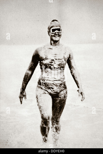 Gertrude Ederle, American swimmer, 1926. Artist: Unknown - Stock-Bilder
