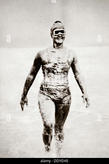 Gertrude Ederle, American swimmer, 1926. - Stock-Bilder