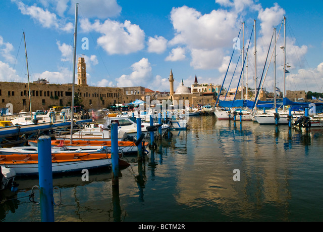The port of Acre in north Israel - Stock Image
