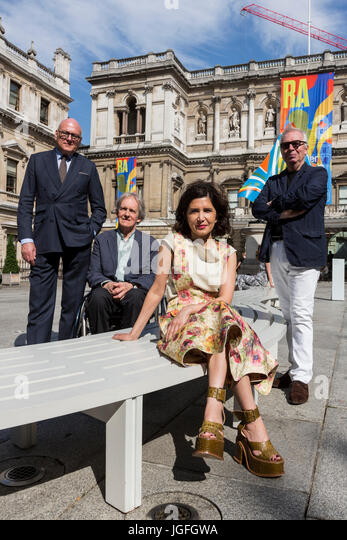 London, UK. 6 July 2017. Photocall with L-R: Lloyd Dorfman, Alan Stanton, Chair of the RA architecture committee - Stock-Bilder