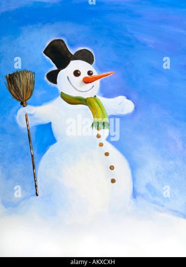 Snowman, illustration - Stock-Bilder