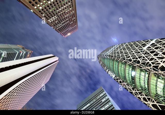 High Rises in Shinjuku Ward, Tokyo, Japan. - Stock-Bilder