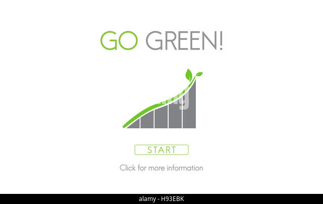 Go Green Conservation Natural Resources Eco Concept - Stock Image