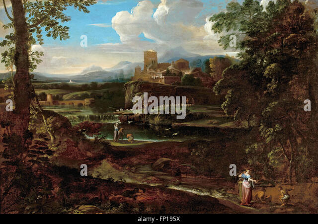 Giovanni F. Grimaldi - Classical landscape - Stock Image