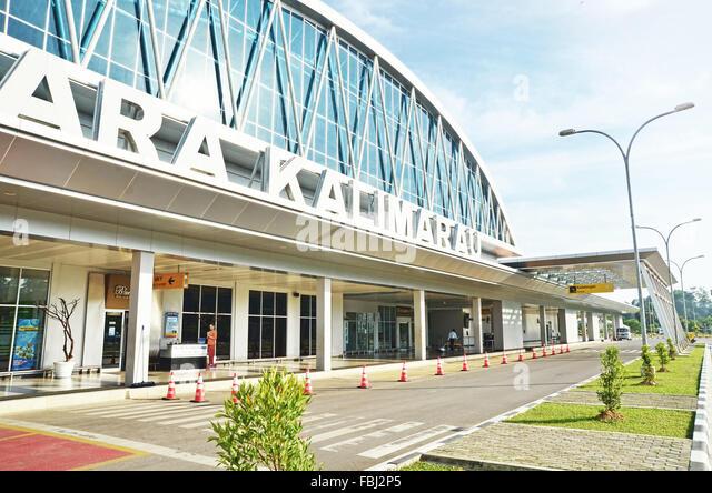 Kalimarau airport in Berau - Stock Image