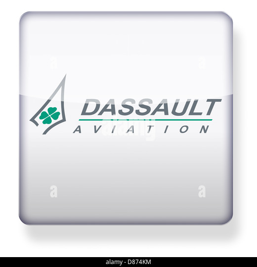 Dassault Aviation logo as an app icon. Clipping path included. - Stock Image