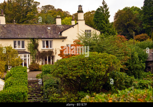 William Wordsworth family home Rydal Mount and Gardens Ambleside Cumbria Lake District united kingdom - Stock Image