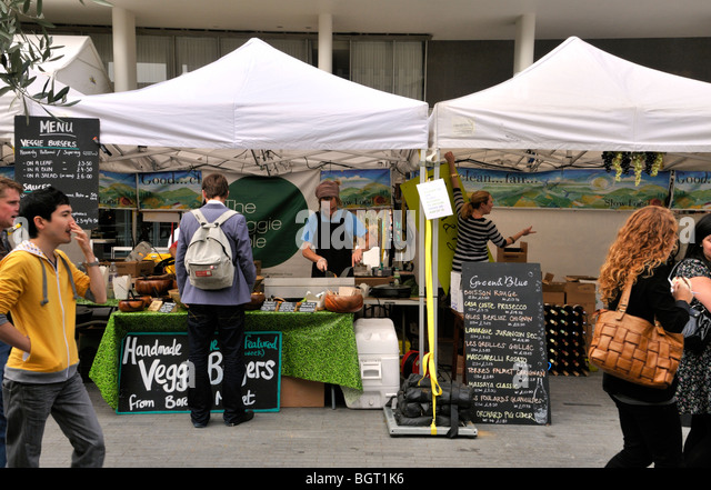 Food stalls, south Bank, London, UK. - Stock Image