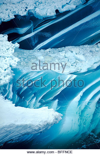 Melting Iceberg (aerial), Antarctica - Stock Image