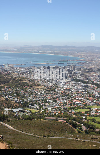 View of Cape Town from Lions Head, South Africa - Stock Image